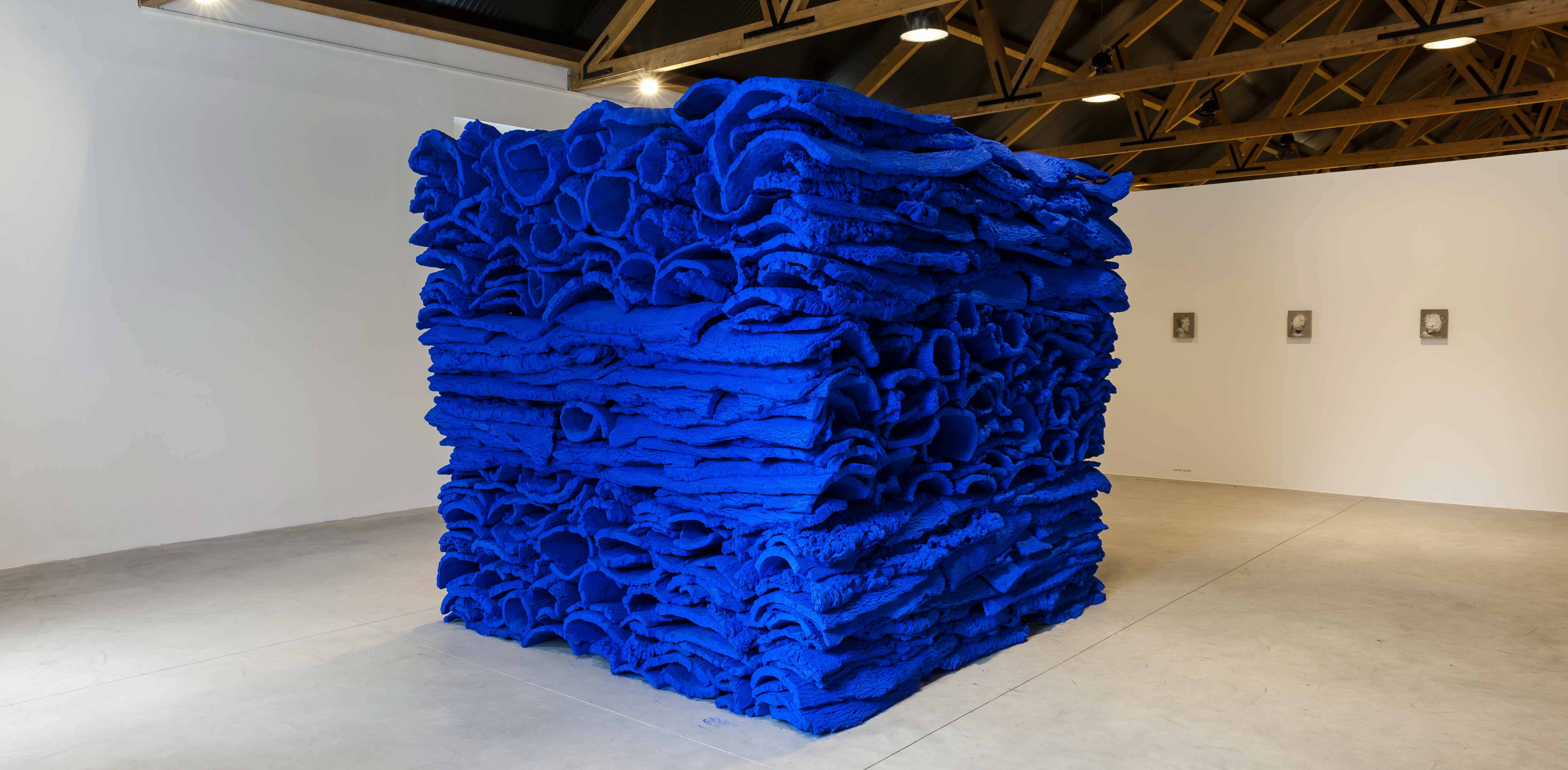 ultramarine-blue-cork-stack_great-men-die-twice-casa-da-cultura_august-2013-1-photo-dave-morgan