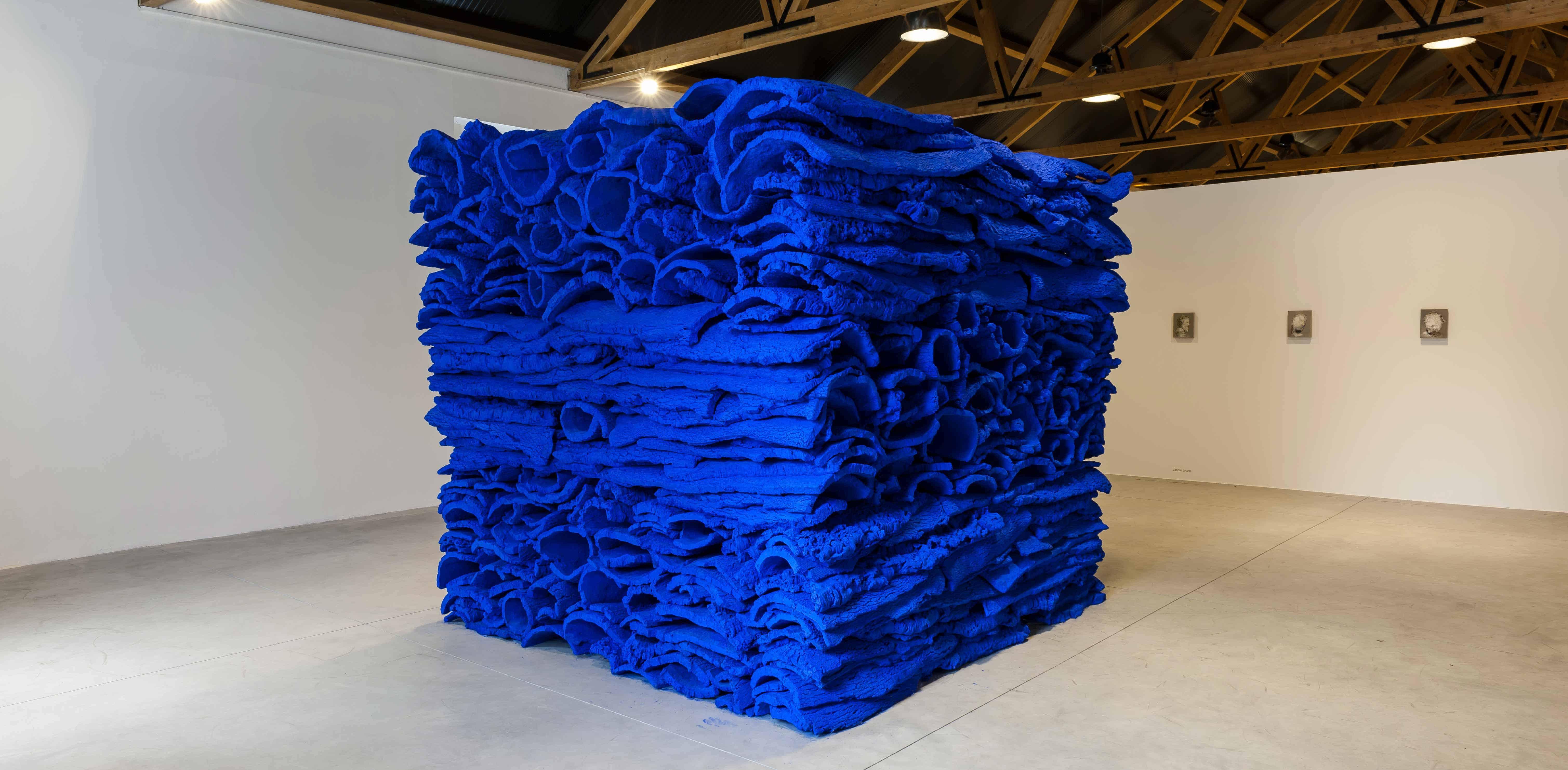 ultramarine-blue-cork-stack_great-men-die-twice-casa-da-cultura_august-2013-1-photo-dave-morgan